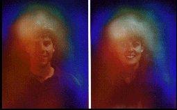 左の男性と右の女性のオーラはほとんど同じです。相性バツグン